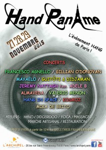 handpan Ame festival poster